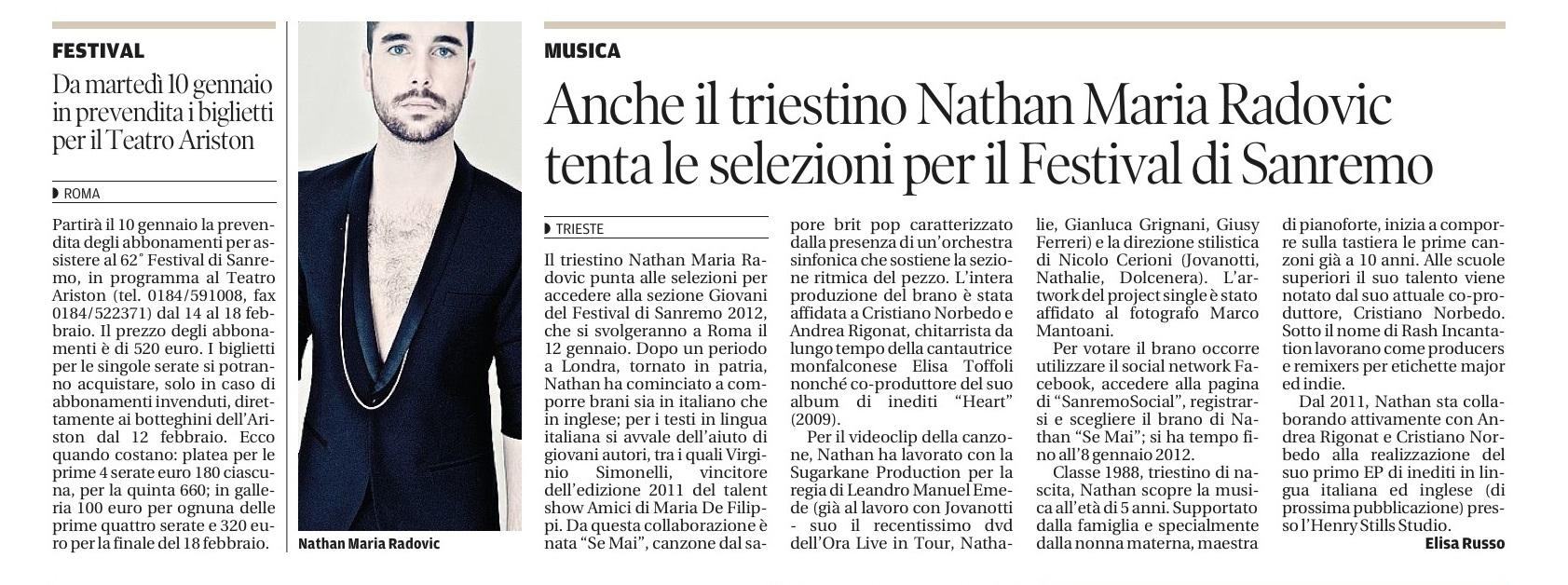 INTERVISTA NATHAN MARIA
