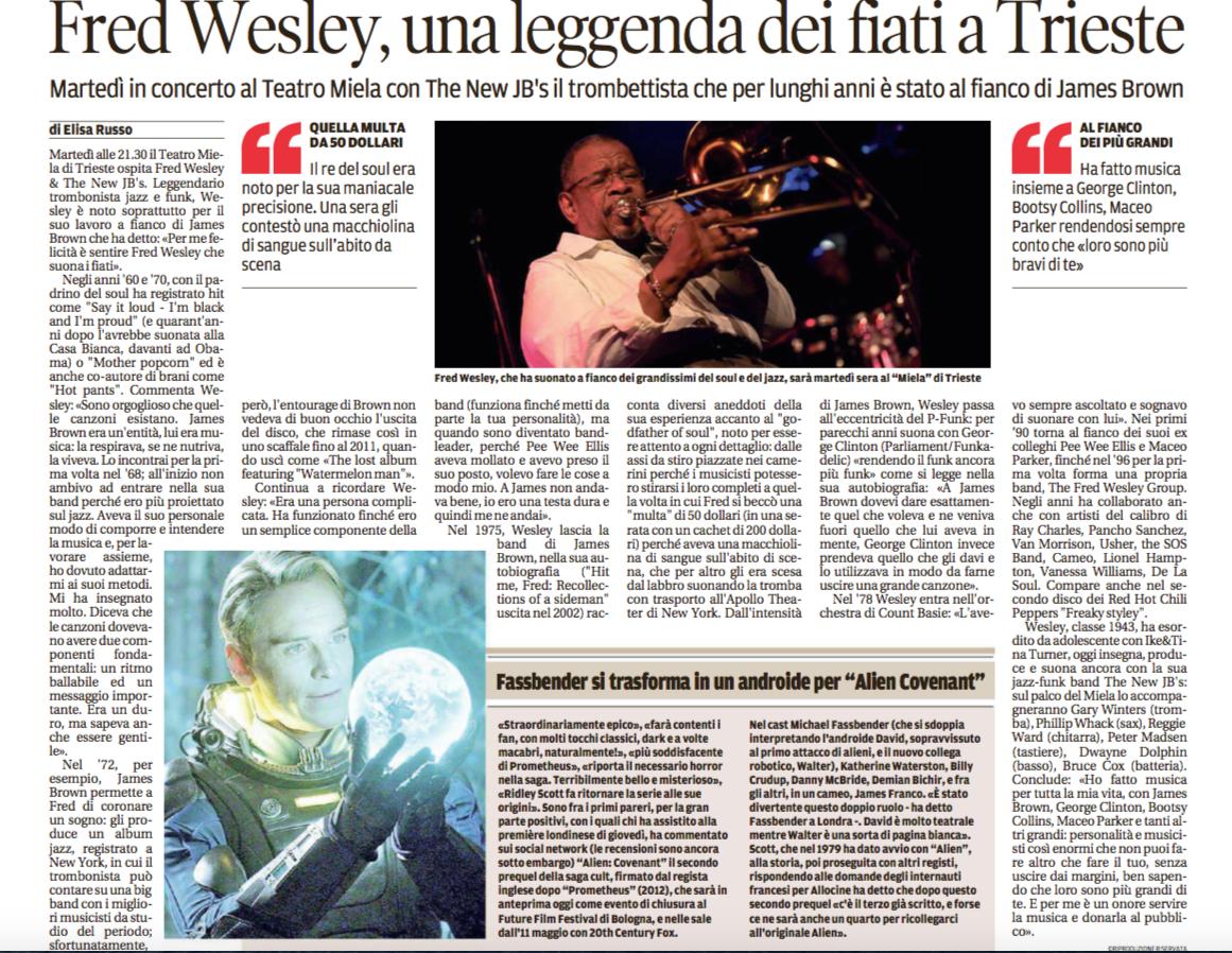 Fred Wesley Miela Il Piccolo
